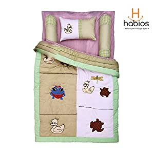 Habios Baby Cotton Quilt - Duckling, 36 x 45 Inches