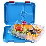 Salat Bento Lunch Box mit 4Fächer, FDA genehmigt Gesunde Food Container Aufbewahrungskoffer, entworfen für Kinder Teens 7–17Jahren oder Erwachsene blau
