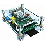 Clear Transparent top and bottom Case Box Enclosure Heat Dissipation Quickly for Raspberry Pi Computer