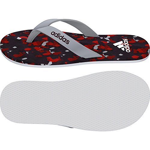 adidas Eezay Marbled M, Tongs Homme Multicolore - Gris / Blanco / Rojo (Onicla / Blanco / Rojmin)