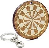 LIKY® Dart - Schlüsselanhänger aus Holz mit Gravur Geschenk für Herren und Damen Geburtstag Vatertag Muttertag Anhänger für Tasche und Rucksack