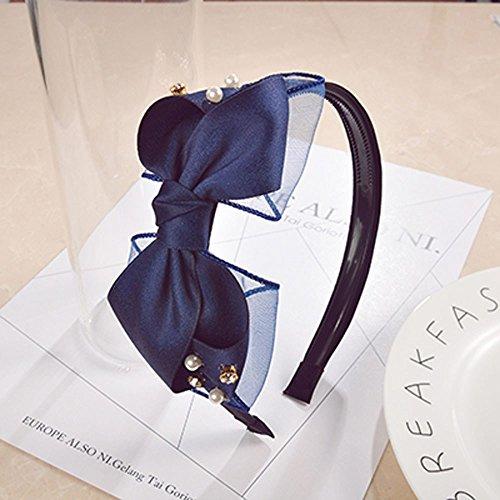KHSKX-Südkorea Ist Der Neue Stoff Gaze - Diamant - Karte Reifen Einfach Bogen Zahn Anti - Glatt Haar -Blau (Diamant-bogen-haar-clip)