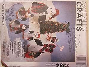 McCall's Patterns 7284Artisanat à coudre motif pingouins et arbre
