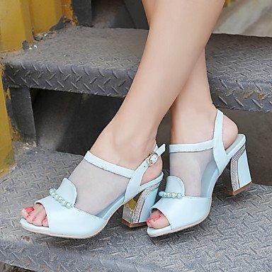 LvYuan Sandali-Casual-Altro-Quadrato-Finta pelle-Blu Rosa Bianco White