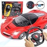 SSBH 2.4GHZ Électronique Télécommande Chargeable Drift Racing Hobby Jouets Véhicules avec LED Phare Rouge Pas Cher Voiture Jouet RC Vitesse Racing Garçon Racing Jouet Rouge Échelle 1:18