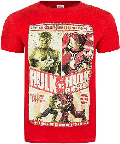 producto-oficial-de-los-vengadores-de-marvel-2-age-of-ultron-hulk-vs-hulkbuster-camisetas-gris-rosso