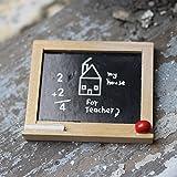 qingsb 1/6 1/12 - Pizarra Escolar en Miniatura con Borrador de Tiza,...