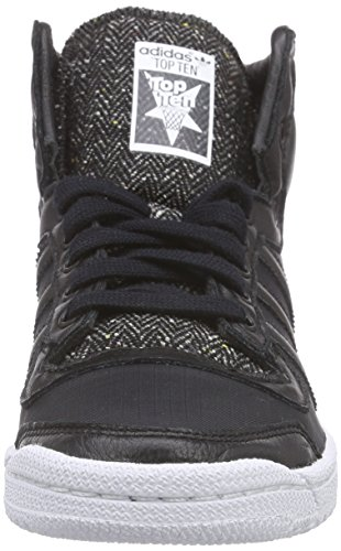 adidas Top Ten Hi Winterized Unisex-Erwachsene Low-Top Schwarz (Core Black/Core Black/Ftwr White)