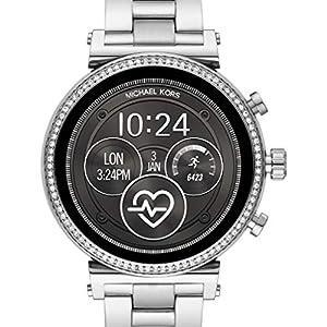 Michael Kors Reloj Analógico-Digital para Mujer Correa en Acero Inoxidable