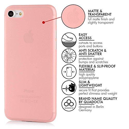 QUADOCTA Smartphone Ultra Slim Case–Custodia protettiva–tenuis–Ultra Sottile iPhone Custodia–Leggero Trasparente Case Nero solido iPhone 6/6s (4,7) Rosé Gold