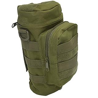 Gosear Outdoor Sport Tactical Gear Nylon Molle Reißverschluss Camo große Flasche Wasser Wasserkocher Rucksack w/Mess-Tasche-oliv