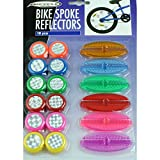 18 tlg Set Kinder Fahrrad Speichen-Reflektoren Katzenaugen farbig poppig bunt