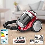 Clean Maxx Staubsauger Ohne Beutel 700W Energieeffizienzklasse (A - G) A Rot-Silber