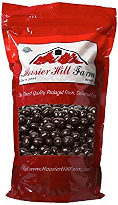 Chocolate Coffee Beans in a Crunchy Candy Shell (907 grams), Dark Chocolate Covered Espresso Beans by Hoosier Hill Farm by Hoosier Hill Farm