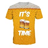 KISAFA Unisex Bier Full Print 3D Sweatshirts/Sweatpants / T-Shirt Anzug
