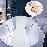 Tutto Il Corpo Spa Cuscino da Bagno Tappetini Vasca da Bagno Imbottito per Materasso Ad Aria per Ventosa Comfort Head Rest