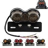 Motorrad Bremslicht Rücklicht Kennzeichnenleuchte mit Integrierten LED Blinker Anzeigen Universal Modified Retro