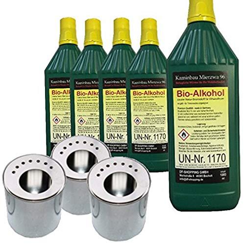 ethanolbrenner 5L Bio-Ethanol Farmlight 3 Dose Behälter Gelkamin Kamin