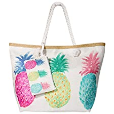 🌴 🌴 MOOKLIN Sommer Strandtasche mit dicken, weichen Baumwollschnur Griffe, hohe Qualität, hohe Kapazität, es ist leicht und faltbar, langlebig und komfortabel. Perfekt für Urlaub, Reisen, Einkaufen.  Wenn Sie planen zu reisen, vielleicht braucht Ihr ...