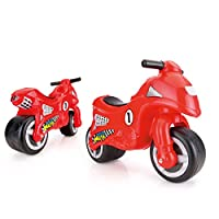 Dolu My First Motorbike - Balance Push Along Bike with Rubber Wheels - Lightweight Model Detailing in Red