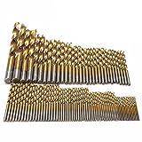 Raysen HSS Bohrer Set 99 tlg.Titanium Metallbohrer Spiralbohrer Handspiralbohrer 1.5mm - 10mm