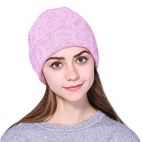 Mütze Liusdh Männer damen Baggy Warm Crochet Winter Wolle Strick Ski Beanie Schädel Slouchy Caps hat(C,freie Größe) -