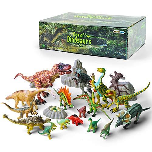 GizmoVine Dinosaurier Spielzeug Set Riese Dinosaurier pädagogisches Spielzeug Modell Geschenke für Kinder Junge Geburtstag - Dinosaurier-spielzeug Kinder Für