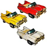 Spardose - altes Cabrio Auto / Oldtimer - stabile Sparbüchse aus Kunstharz - Fahrzeug Sparschwein lustig witzig Kuba / New York NYC yellow Cab - Amerika - Autos / Reise - Reisekasse Urlaub Reisen