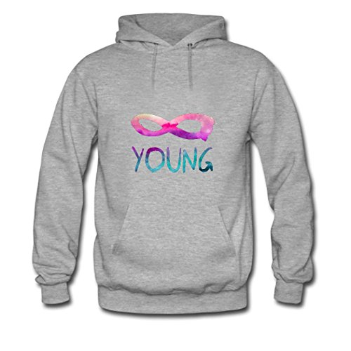 HGLee Printed Personalized Custom Infinite Young Classic Women Hoodie Hooded Sweatshirt Gray--1