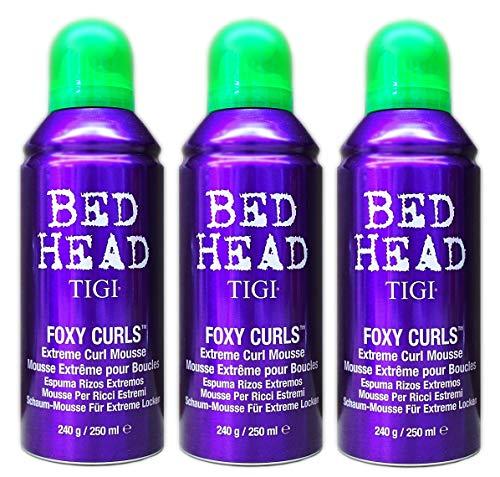 3er Schaum Mousse Extreme Curl Foxy Curls Bed Head TIGI für Locken 250 ml