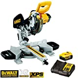 DeWalt DCS365P1 18V XR Cordless Mitre Saw 184mm With 1 x 5.0Ah Battery & Charger