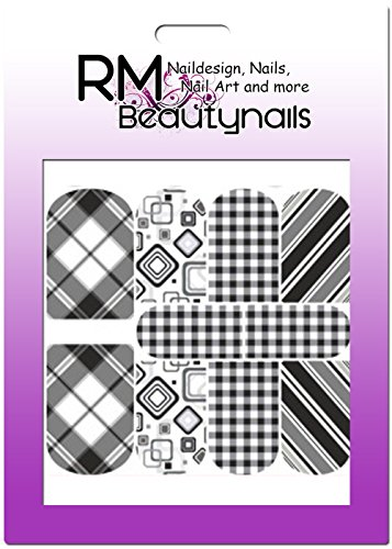 RM Beautynails Stickers nailw Rap Full Cover Stickers pour ongles One Stroke Stickers Nail Art Design Carreaux