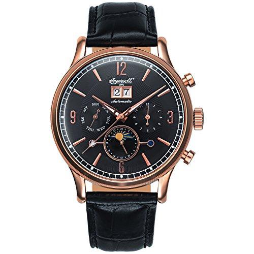Ingersoll Herren Analog Automatik Uhr mit Leder Armband IN1404RBK