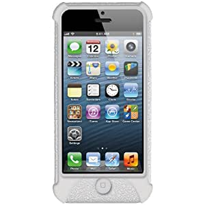 Amzer Silicone Skin Jelly Case for iPhone 5 (Transparent White)