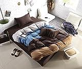 Warmsun 200X230CM 1,5 -1.8M Cama doble de algodón activa sarga color llano lucha de cuatro forros de encaje bordado 4 juegos de cama serie de moda personalizada