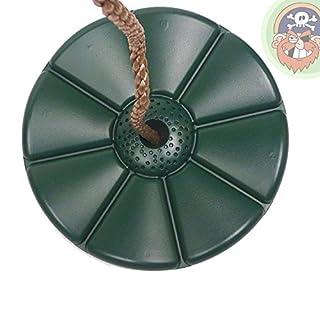 Tellerschaukel Kunststoff Schaukelsitz rund Farbe grün von Gartenpirat®