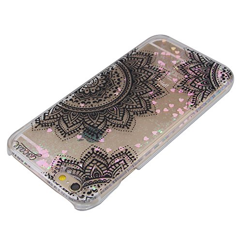 iPhone 5C Hülle,iPhone 5C Case,iPhone 5C Cove,3D Kreativ Muster Transparent Hard Case Cover Hülle Etui für iPhone 5C,EMAXELERS Cute Tier Cat Kaninchen Serie Bling Luxus Shiny Glitzer Treibsand Liquid  Heart Series 2