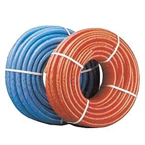 Gaine annelée ICT rouge avec tire-fil pour tube 20 50 mètres 260601