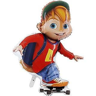 39 Inch Alvin Skateboarding Foil Balloon - Alvin and the Chipmunks