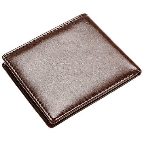 mymotto Geldbeutel Herren einfach kurz aus Kunstleder Geldbörse Braun