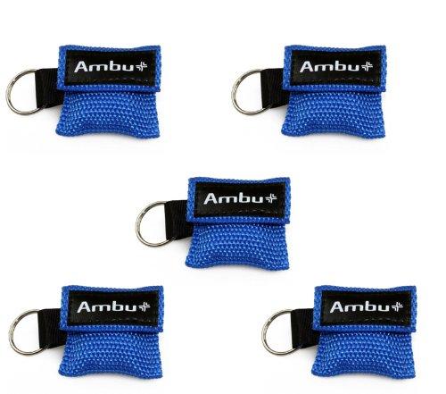 5x AMBU LifeKey Schlüsselanhänger Beatmungsmaske in blau