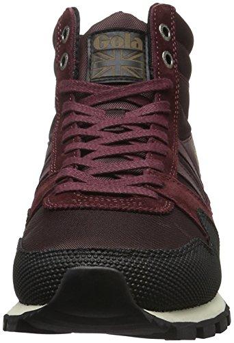 Gola Ridgerunner High II, Sneaker Alte Uomo Rosso (Rot (Burgundy/Black))