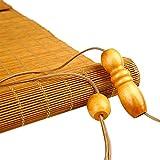 ZEMIN Bambus Rollo Bambusrollo Innen/Außen Installieren Sonnencreme Ländlich Vorhang Mode Anpassbar Handheben, 3 Farben, 22 Größen