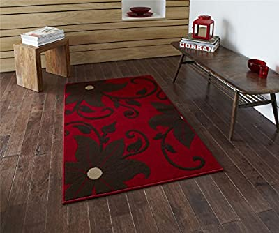 Modena 6255 Red and Brown Rug - cheap UK light shop.