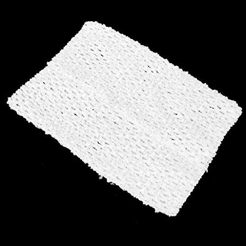 Sharplace Mädchen Tube-Top Strapless Top Bustier Elastische Band Stirnband Für Tutu Kleid Fotoshooting Kostüm - Weiß