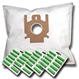 40 Staubsaugerbeutel + 40 Duftstäbe geeignet für Miele Complete C3 Silence EcoLine Plus