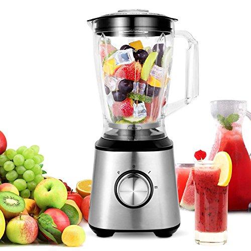 Meykey Smoothie Standmixer, Smoothie Maker, 800w Blender Cup & Grinder Edelstahl Lebensmittel Obst Maker Mixer 1,5 Liter Elektrische Lebensmittel-schleifer Und Mühlen