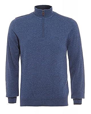Hugo Boss Black Benders-E Sweater, Denim Blue Funnel Neck Jumper