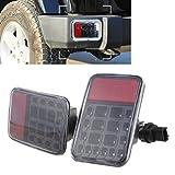 SUPAREE Phare Arrière pour Jeep, LED Feux Arrières de Pare-chocs LED avec la fonction de Feu de stationnement et Feu de recul pour 07-15 Jeep Wrangler JK