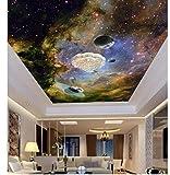 3D Wallpaper Benutzerdefinierte Fototapete Himmel Fantasie Landschaft Wohnzimmer Restaurant Decke Wandmalerei Wandbild Panel 3D Wallpaper